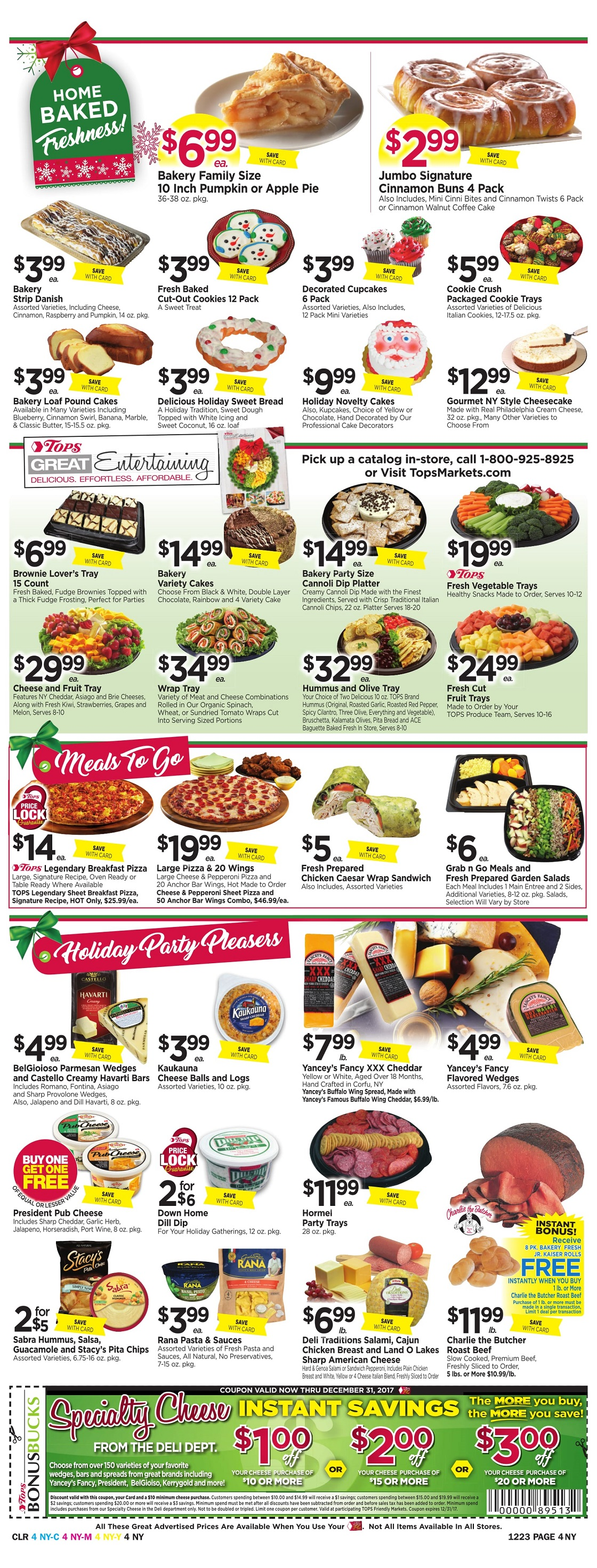 Tops Markets Ad Scan Week 12 17 Page 4