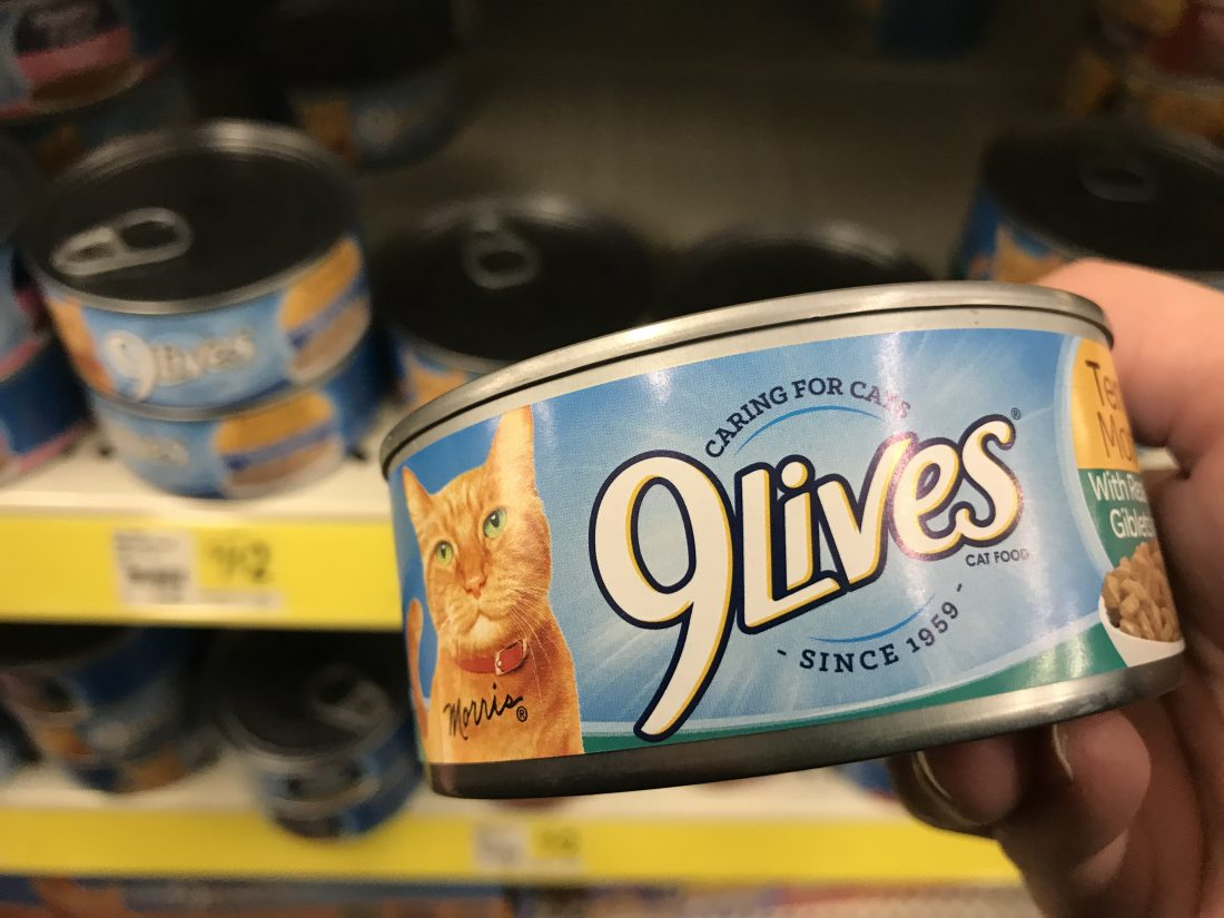 9 Lives Canned Cat Food At Dollar General