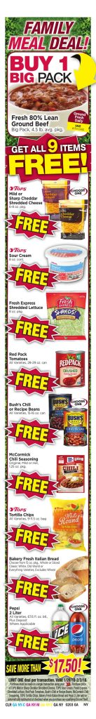 Tops Markets Ad Preview Week 1 28 18 Meal Deal