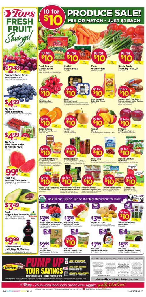 Tops Markets Ad Scan Week 1 21 18 Page 10