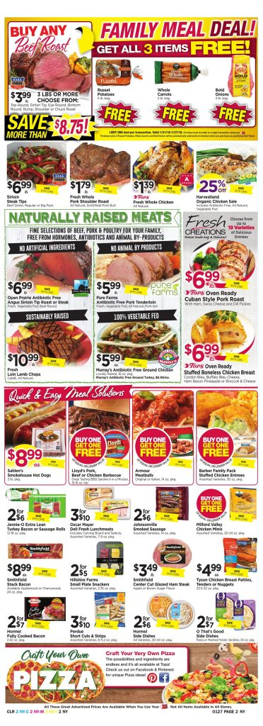 Tops Markets Ad Scan Week 1 21 18 Page 2