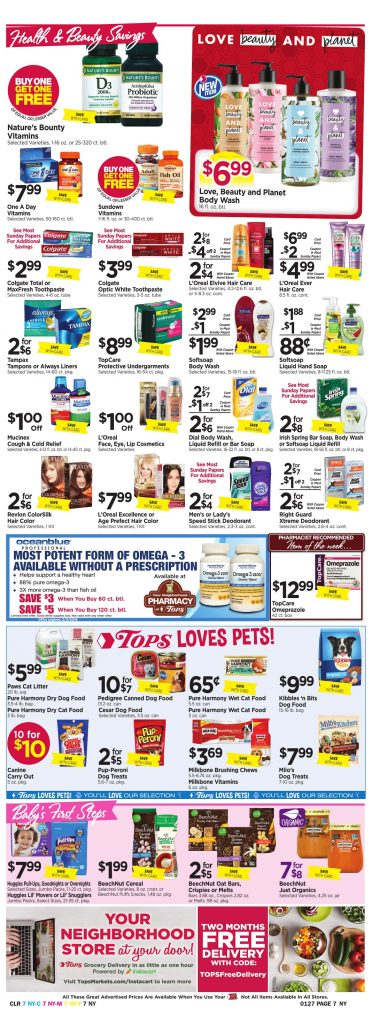 Tops Markets Ad Scan Week 1 21 18 Page 7