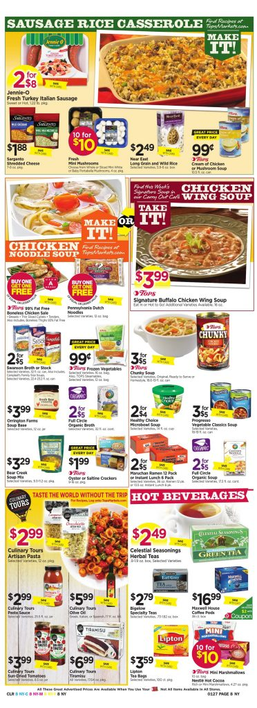 Tops Markets Ad Scan Week 1 21 18 Page 8