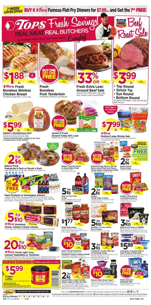 Tops Markets Ad Scan Week 2 11 Page 1