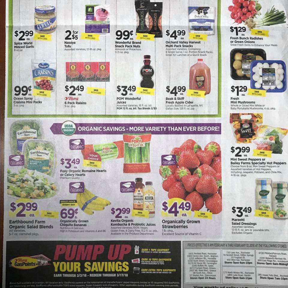 Tops Markets Ad Scan Week 2 4 18 Page 10b