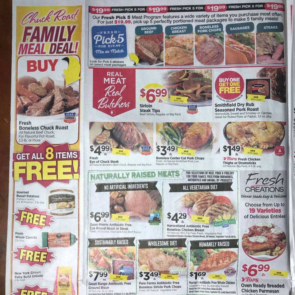 Tops Markets Ad Scan Week 2 4 18 Page 2a