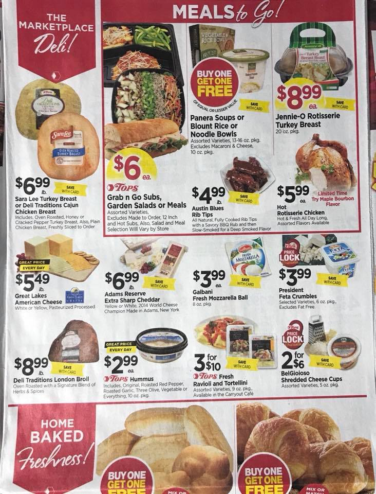 Tops Markets Ad Scan Week 2 4 18 Page 3a