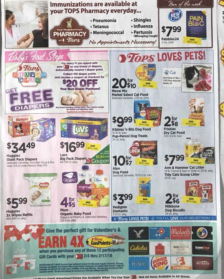 Tops Markets Ad Scan Week 2 4 18 Page 7b