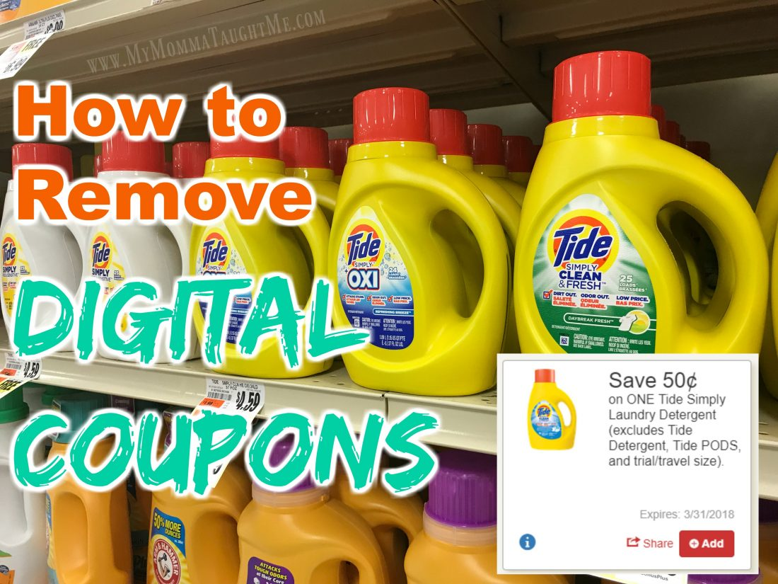 How To Remove Digital Coupons