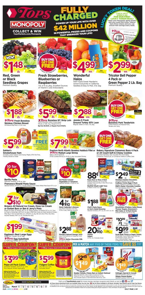 Tops Markets Ad Preview Week 3 11 18 Page 1
