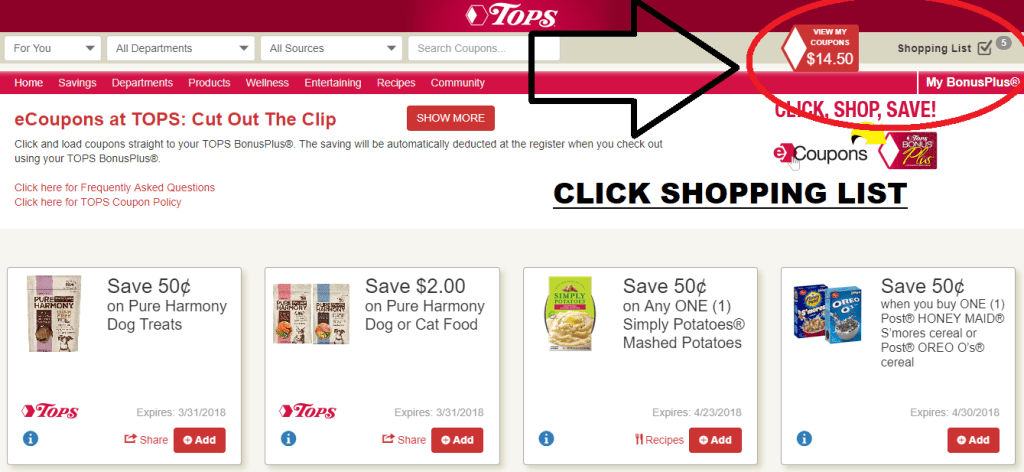 How To Find Digital Coupons For Tops Markets