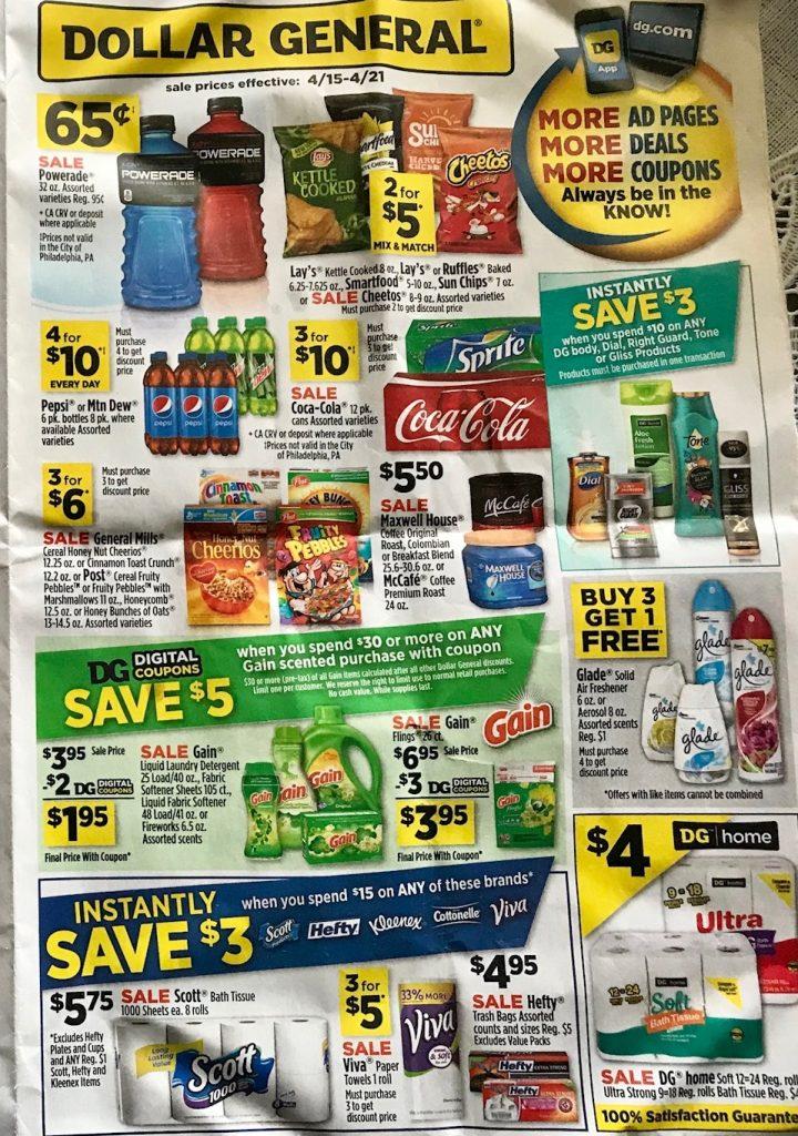 Dollar General Ad Week 4 15 18 P1