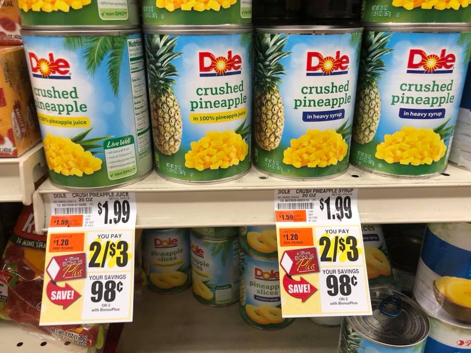 Dole Canned Fruit Sale