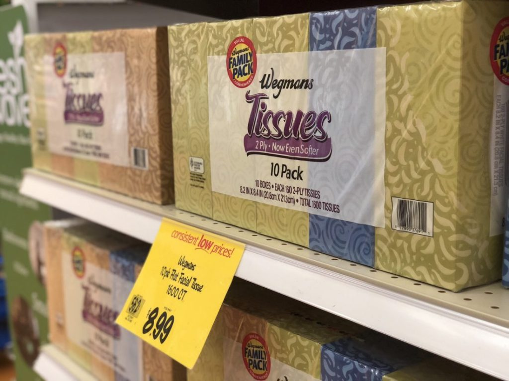Wegmans Family Pack Tissues ONLY $5.99 after Digital Coupon Offer!