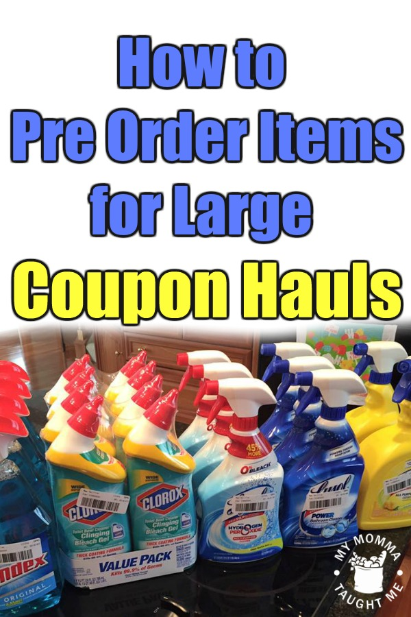 How To Pre Order Items For Large Coupon Hauls 2