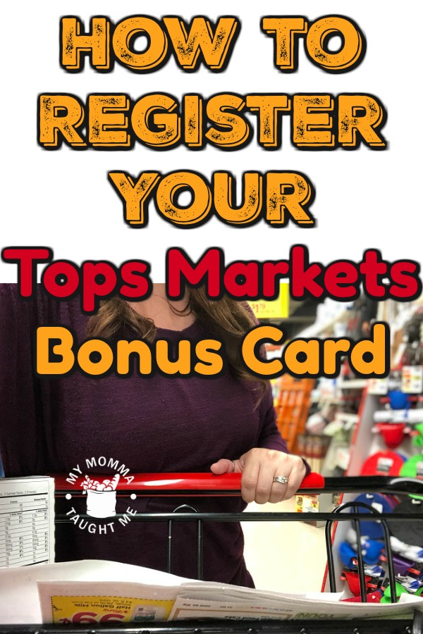 How To Register Your Tops Markets Bonus Card