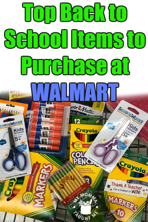 Top Back To School Items To Purchase At Walmart 2