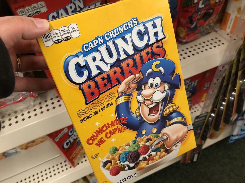 Quaker Capn Crunch Cereal At Dollar Tree