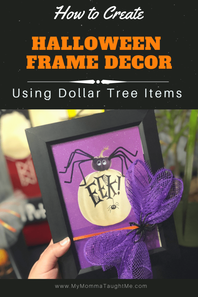 How To Create Halloween Frame Decor Using Dollar Tree Items