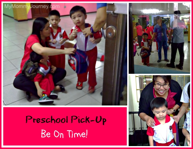 1st day of preschool pick-up be on time