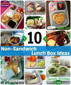 lunch box ideas, lunch box recipes, non-sandwich lunch ideas