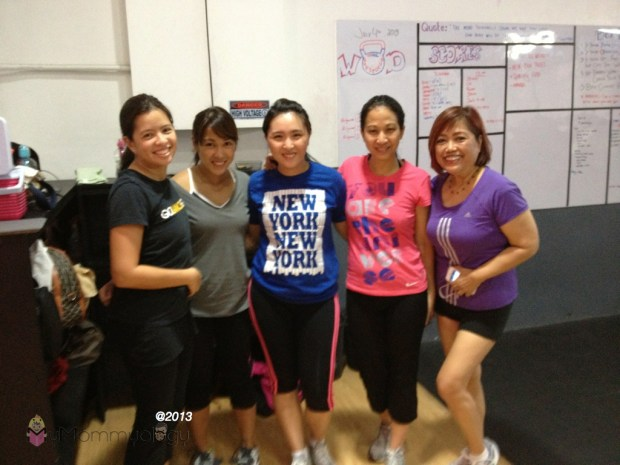 With the ultra-fit Coach Ann.  We are all #CrossFitMoms!