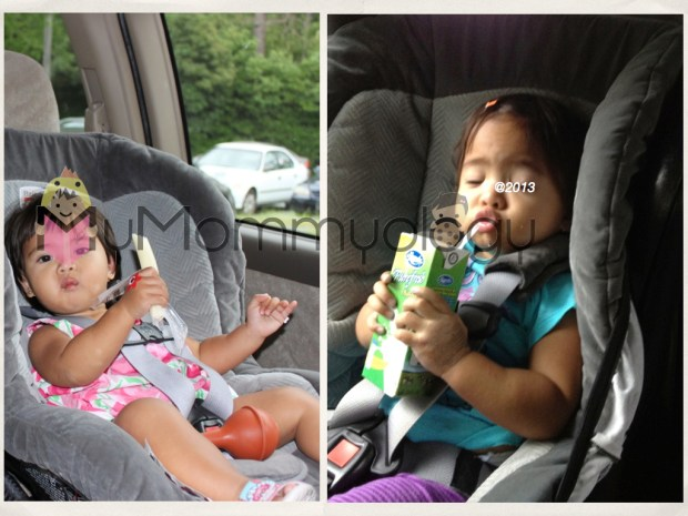Eating, Nose Clearing, Drinking Milk... You name it we've done it in the carseat.