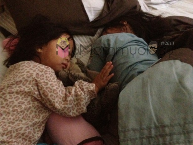 Jamie patting Ate to sleep (she may have fallen asleep while doing so....) :)