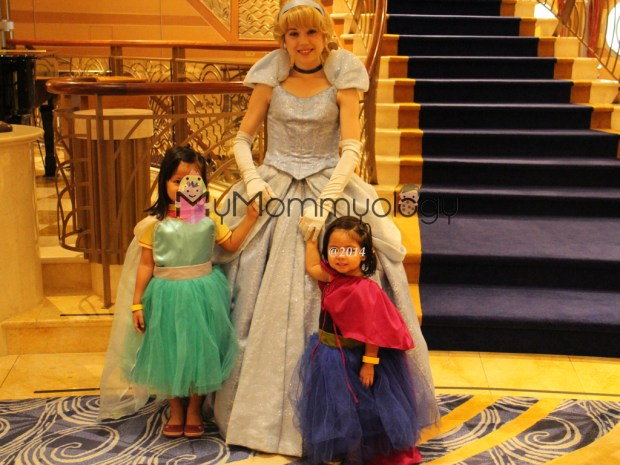 One of the many princess shots in their princess dresses!