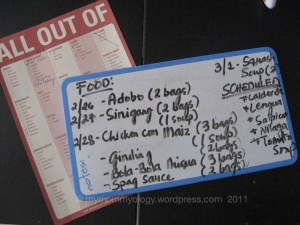 My Mommyology Frozen Foods