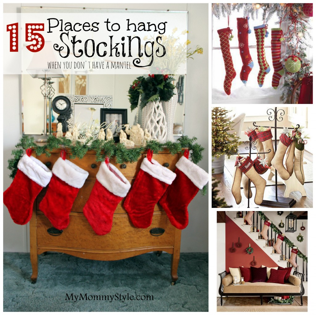 Remodelaholic How To Hang Stockings Without A Mantel Where To Hang Stockings If You Don't Have A Fireplace Or