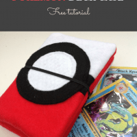 Pokemon Deck Holder - 15 minute sewing project