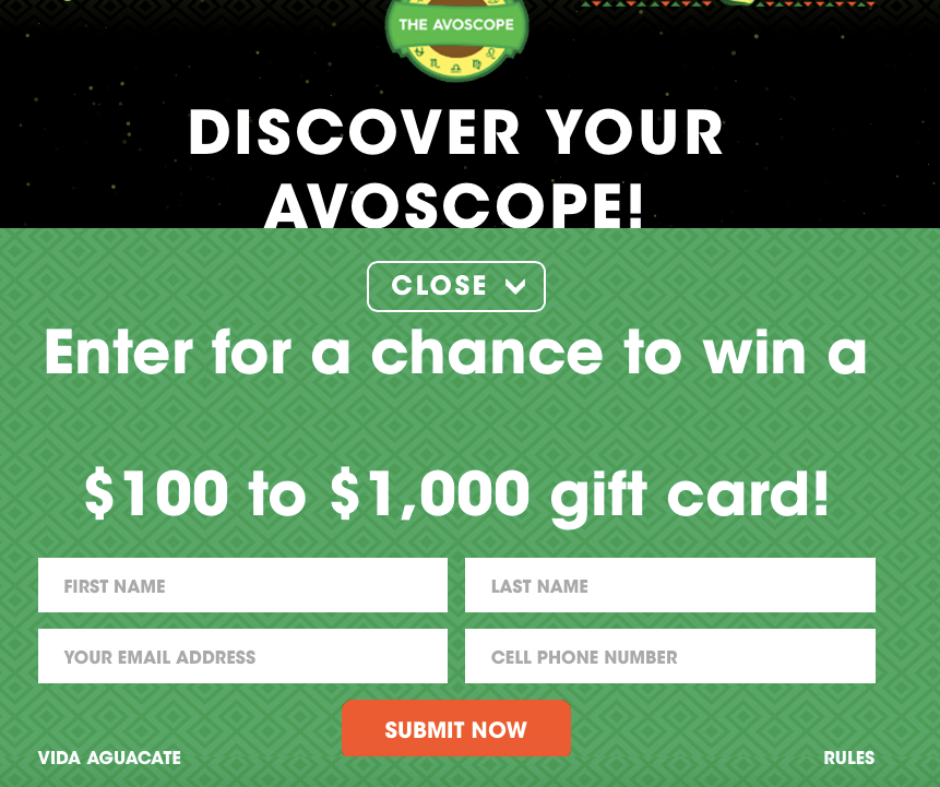 Avocados from Mexico Avoscope Sweepstakes