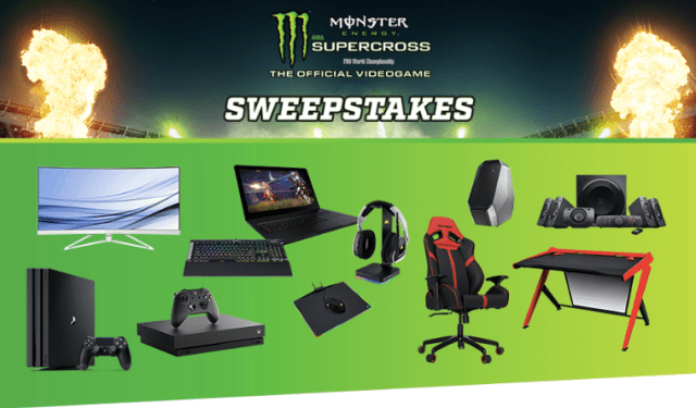 GameStop Monster Energy Supercross Sweepstakes