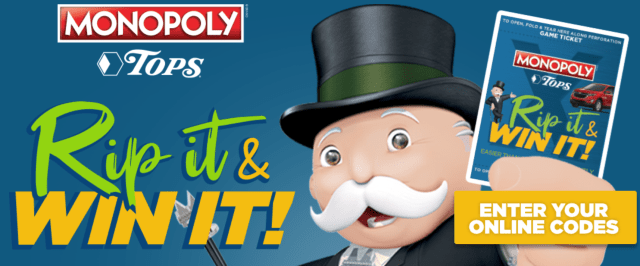 TopsMarkets Monopoly Sweepstakes – No Purchase method