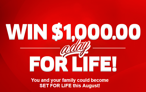 PCH $1,000 A-Day-For-Life SuperPrize (Enter by 8/28/18)