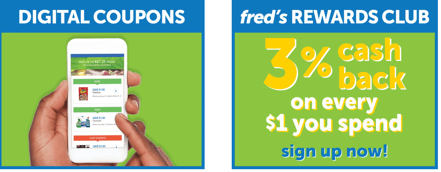 Fred's Coupons