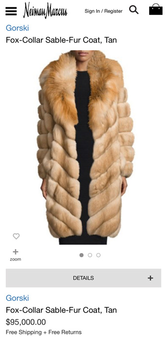 most expensive fur coat