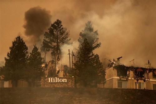 hilton sonoma burned