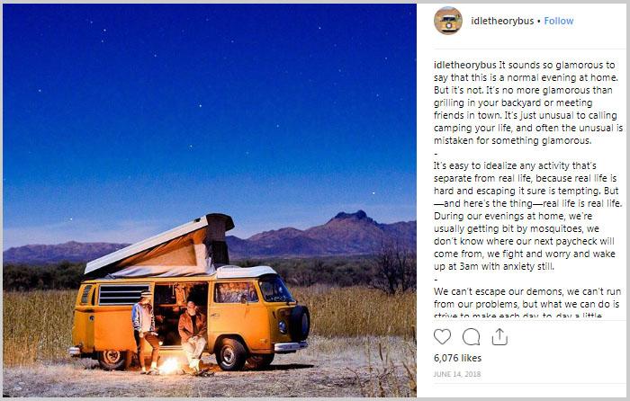 camping in a van