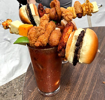worlds largest bloody mary bar 2