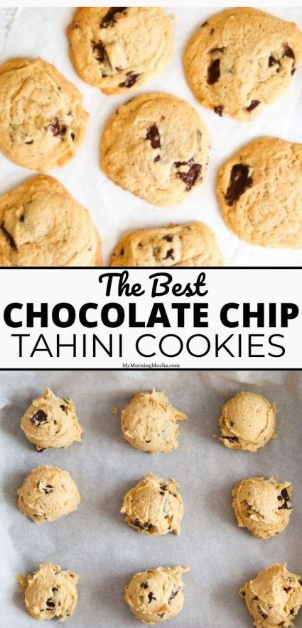 Easy chocolate chip tahini cookies recipe