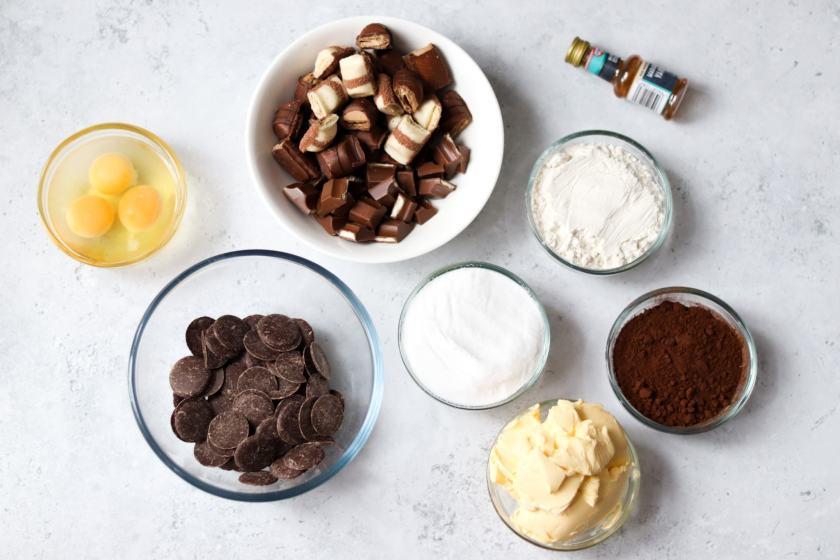 Kinder Bueno brownies recipe ingredients