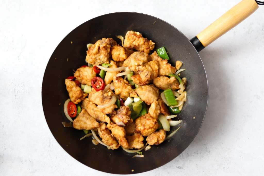 Homemade salt and chilli chicken Chinese takeaway recipe