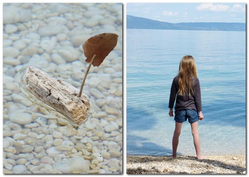 8_Robin am Strand und ein kleines Schiffchen aus Fundstücken