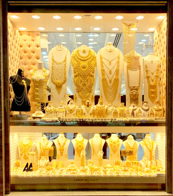 Gold display in Gold Souk