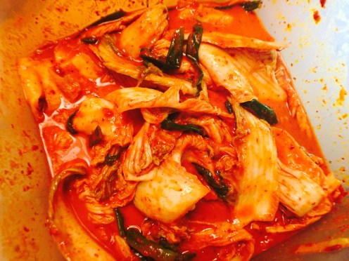 Napa cabbage kimchi, the most commonly used vegetable for kimchi.