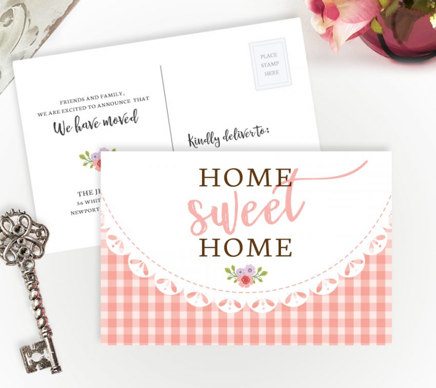 new address announcement cards