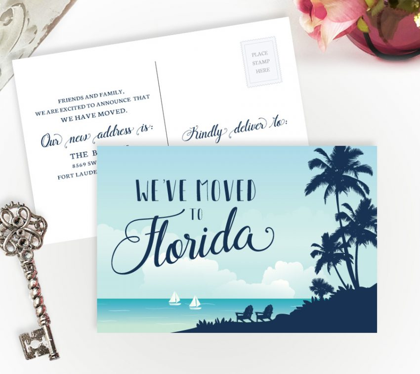 Shop Personalized Moving Cards