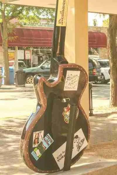 Travel guitar back